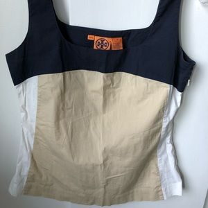 Tory Burch Neutral Color Block Tank Top